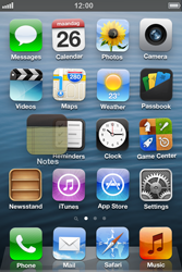 Apple iPhone 4S - Getting started - Personalising your Start screen - Step 3