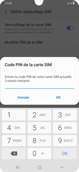 Samsung Galaxy A50 - Sécuriser votre mobile - Personnaliser le code PIN de votre carte SIM - Étape 9
