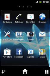 Sony ST23i Xperia Miro - E-mail - e-mail versturen - Stap 2
