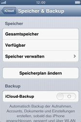 Apple iPhone 3GS - Apps - Konfigurieren des Apple iCloud-Dienstes - Schritt 10