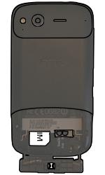 HTC S510e Desire S - SIM-Karte - Einlegen - Schritt 6