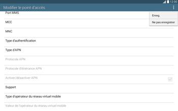 Samsung T535 Galaxy Tab 4 10.1 - Internet et roaming de données - Configuration manuelle - Étape 15