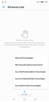 Huawei P20 Pro - Anrufe - Anrufe blockieren - 8 / 12