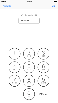 Apple iPhone 7 Plus - Sécuriser votre mobile - Personnaliser le code PIN de votre carte SIM - Étape 11