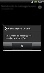 HTC S510e Desire S - Messagerie vocale - configuration manuelle - Étape 9