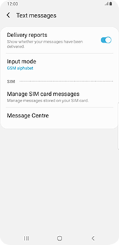 Samsung galaxy-s9-plus-android-pie - SMS - Manual configuration - Step 8