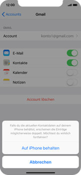 Apple iPhone X - Kontakte - Sicherheitskopie des Geräts mit OS-Konto erstellen - 10 / 11