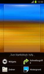 Samsung Galaxy S II - Startanleitung - Installieren von Widgets und Apps auf der Startseite - Schritt 3