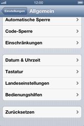 Apple iPhone 4S - Gerät - Zurücksetzen auf die Werkseinstellungen - Schritt 5