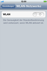 Apple iPhone 3GS - WLAN - Manuelle Konfiguration - Schritt 4