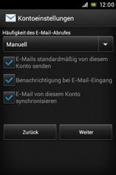 Sony Xperia Miro - E-Mail - Konto einrichten - Schritt 13