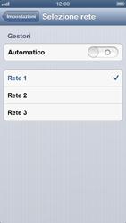 Apple iPhone 5 - Rete - selezione manuale della rete - Fase 8