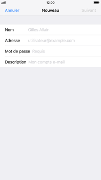Apple iPhone 8 Plus - iOS 12 - E-mail - Configuration manuelle - Étape 8
