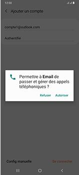 Samsung Galaxy A70 - E-mails - Ajouter ou modifier votre compte Outlook - Étape 10