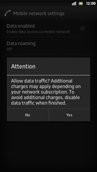 Sony Xperia S - Internet and data roaming - Manual configuration - Step 7