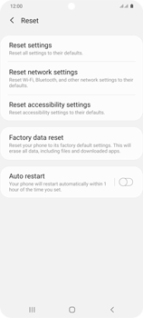 Samsung Galaxy S20 Plus 5G - Mobile phone - Resetting to factory settings - Step 6
