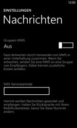 Nokia Lumia 1020 - SMS - Manuelle Konfiguration - Schritt 8