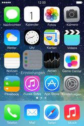 Apple iPhone 4S iOS 7 - Startanleitung - Personalisieren der Startseite - Schritt 3