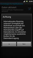 Sony Xperia U - Ausland - Im Ausland surfen – Datenroaming - Schritt 10