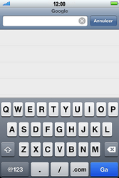 Apple iPhone 4S met iOS 5 (Model A1387) - Internet - Hoe te internetten - Stap 8