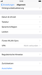 Apple iPhone 8 - iOS 12 - Fehlerbehebung - Handy zurücksetzen - Schritt 6