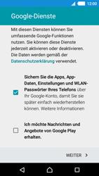 Sony E2303 Xperia M4 Aqua - Apps - Konto anlegen und einrichten - Schritt 16