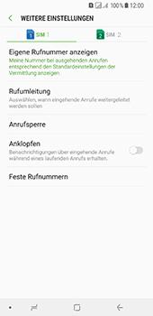 Samsung Galaxy A8 Plus (2018) - Anrufe - Rufumleitungen setzen und löschen - Schritt 7