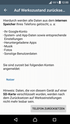 Sony F3111 Xperia XA - Fehlerbehebung - Handy zurücksetzen - Schritt 8