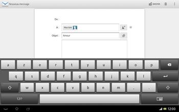 Sony SGP321 Xperia Tablet Z LTE - E-mail - envoyer un e-mail - Étape 8