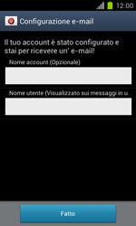 Samsung Galaxy S II - E-mail - Configurazione manuale - Fase 17