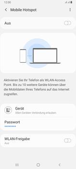Samsung Galaxy A80 - WiFi - So aktivieren Sie einen WLAN-Hotspot - Schritt 7