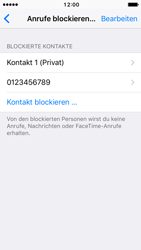 Apple iPhone SE - iOS 10 - Anrufe - Anrufe blockieren - Schritt 7