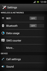 Sony C1505 Xperia E - Voicemail - Manual configuration - Step 4