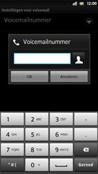 Sony LT26i Xperia S - Voicemail - Handmatig instellen - Stap 7