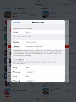 Apple ipad-pro-9-7-inch-met-ios10-model-a1674 - Applicaties - Account aanmaken - Stap 11