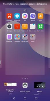 Huawei Y7 (2018) - Operazioni iniziali - Installazione di widget e applicazioni nella schermata iniziale - Fase 7