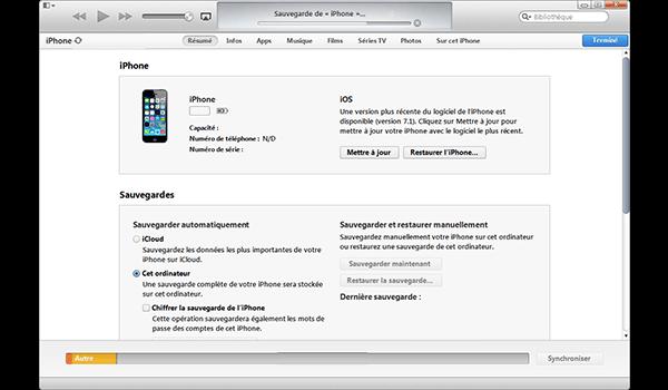 Apple iPhone 5s - iOS 8 - Logiciels - Comment effectuer une sauvegarde de votre appareil - Étape 6