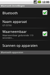 Samsung Galaxy Spica (GT-i5700) - Bluetooth - Headset, carkit verbinding - Stap 6