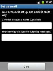 Samsung Galaxy Pocket - E-mail - Manual configuration - Step 17