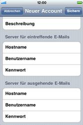 Apple iPhone 3G - E-Mail - Konto einrichten - Schritt 11