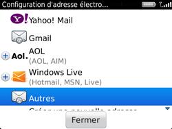 BlackBerry 9720 - E-mails - Ajouter ou modifier un compte e-mail - Étape 6