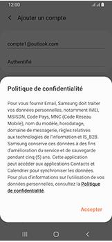 Samsung Galaxy A40 - E-mails - Ajouter ou modifier votre compte Outlook - Étape 13