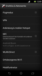 Sony Xperia T - Internet und Datenroaming - Deaktivieren von Datenroaming - Schritt 5