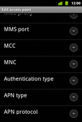 Alcatel OT-983 - MMS - Manual configuration - Step 13