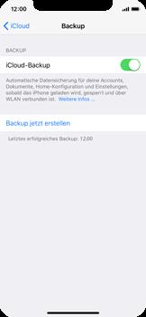 Apple iPhone X - Software - Eine iCloud-Sicherheitskopie erstellen und an ein neues Gerät übertragen - 2 / 2
