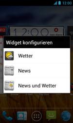 ZTE Blade III - Startanleitung - Installieren von Widgets und Apps auf der Startseite - Schritt 6