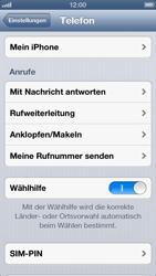 Apple iPhone 5 - Anrufe - Rufumleitungen setzen und löschen - Schritt 4