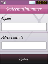 Samsung S7070 Diva - Voicemail - Handmatig instellen - Stap 7