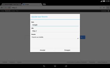 Sony Xperia Tablet Z2 LTE - Internet et roaming de données - Navigation sur Internet - Étape 8