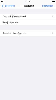 Apple iPhone 8 Plus - iOS 13 - Startanleitung - So fügen Sie eine Tastatursprache hinzu - Schritt 6